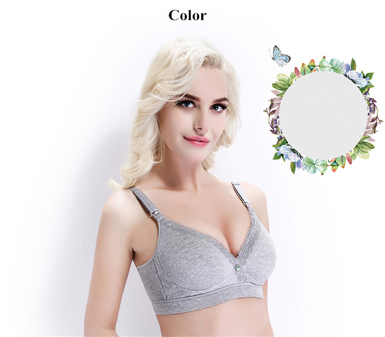 New Cotton Wireless Hands Free Pump Bra Front and Upper Buckles Breastfeeding Bra Gather Pregnant Bra Plus Size