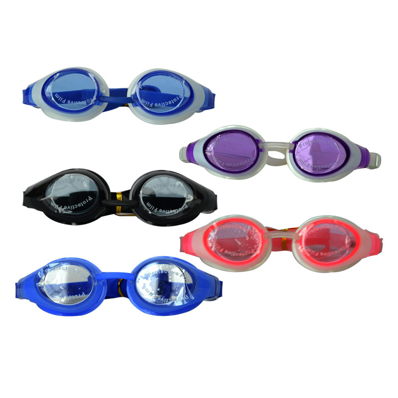 2015 Cute Funny Promotion Waterproof Custom Colorful Kids Funny Swimming Goggles