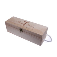 Oempromo custom empty wooden wine gift box