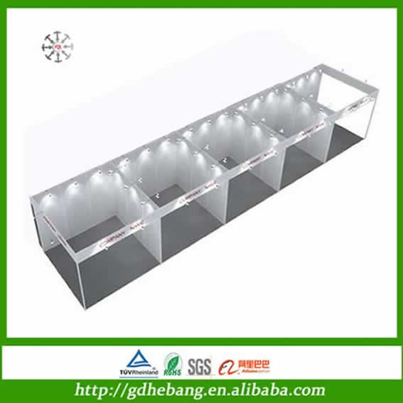 China Pop Up Display Stand / Sturdy Construction Trade Show Booth Designers