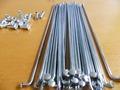 wholesale 100pcs lot Electric bicycle Bicycle Spoke Silver 10K 10G Diameter 3mm spokes Steel nipples Bicycle