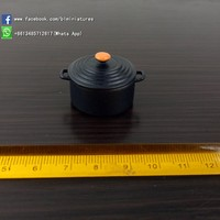 1/12 Miniatures dollhouse Educational Toys Black Pot Play Kitchen