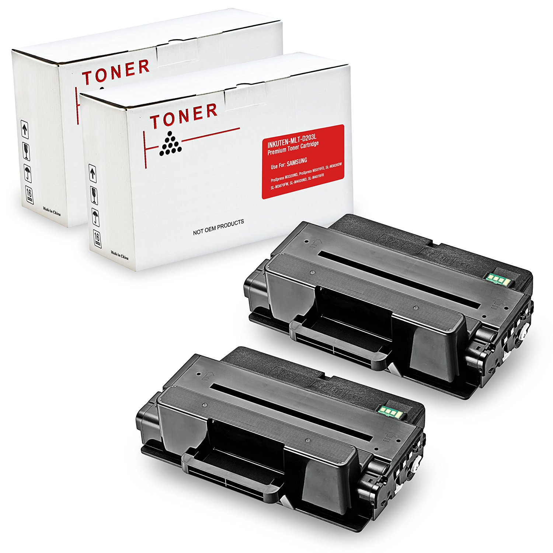 INKUTEN © 2PK Compatible MLT-D203L, 203L, MLT-D203L/XAA MLT-D203S High Yield Toner for Samsung M3320ND, M3370FD, SL-M3820DW, SL-M3870FW, SL-M4020ND, SL-M4070FR