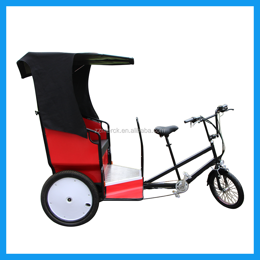 Human Pedal Mini Mobile Zero Pollution Two Passenger Electric Cycle Rickshaw