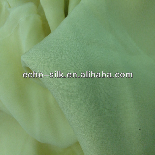 dyed stretch crepe de chine silk fabric