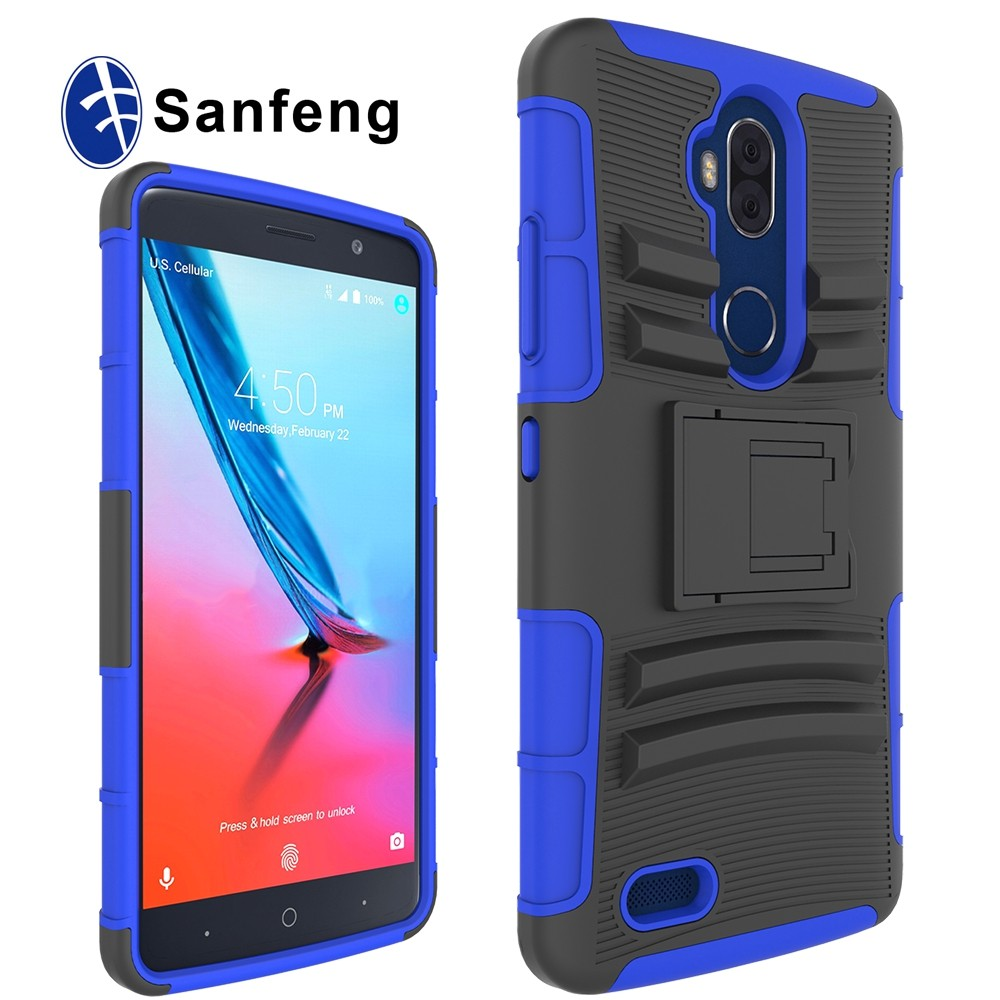 U.S. Cellular Case For ZTE Blade <strong>Max</strong> 3 6.0inch Holster Kickstand Case For ZTE Z986U