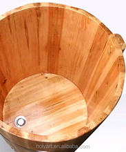 Hot sale high quality custom made round wooden bathtub
