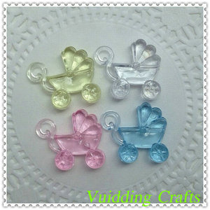 Baby Stroller Acrylic Flat Beads For Baby Shower Souvenir