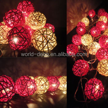 Decorative Rattan Balls Stunning Led Rattan Ball Decorative Light  20 Led 6 Cm Christmas Rattan 2018