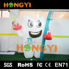 Inflatable tooth balloon and toothbrush model Oral dentistry outdoor advertising publicity cartoon mascot