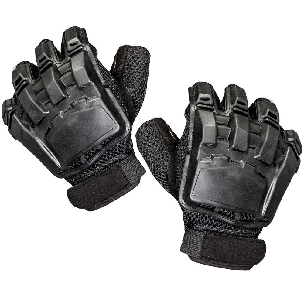 MolGym Mens Hard Knuckle Tactical Leather Gloves Fingerless Sport/Fitness/Military Combat/Riding/Shooting Outdoor