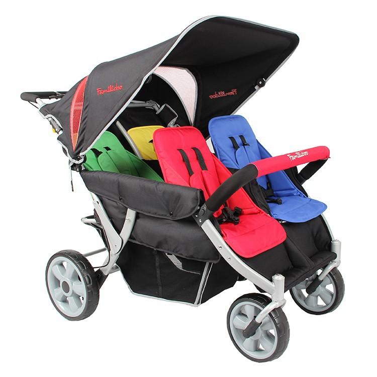 4-passenger Kids Baby Stroller For Kindergarten And Day Care ...