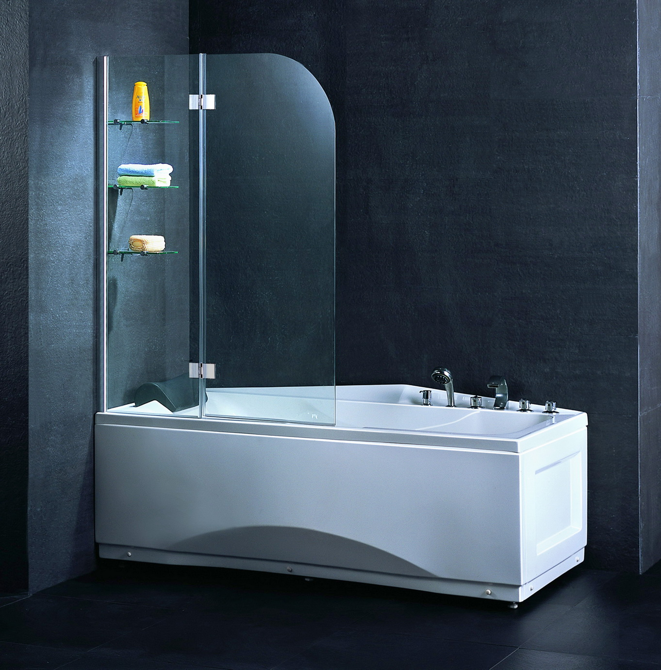Self Cleaning Glass Shower Cabin Walk In Tempered Glass Shower Doors