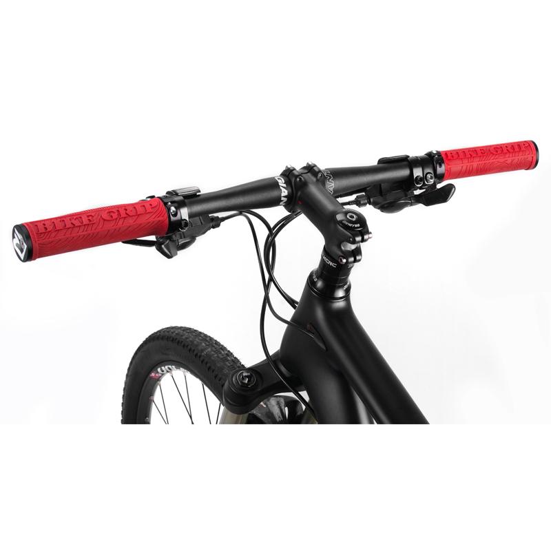 Rockbros TPR Rubber Bilateral Lock Bike Aluminum Non-slip Handlebar Grips Black
