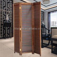 Wholesale Japanese Wood Folding Screen Room Divider For Living Room