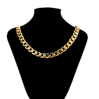 45659 Xuping hot sale 24k gold simple design jewellery+big chain necklace jewelry+mens cuban link chain