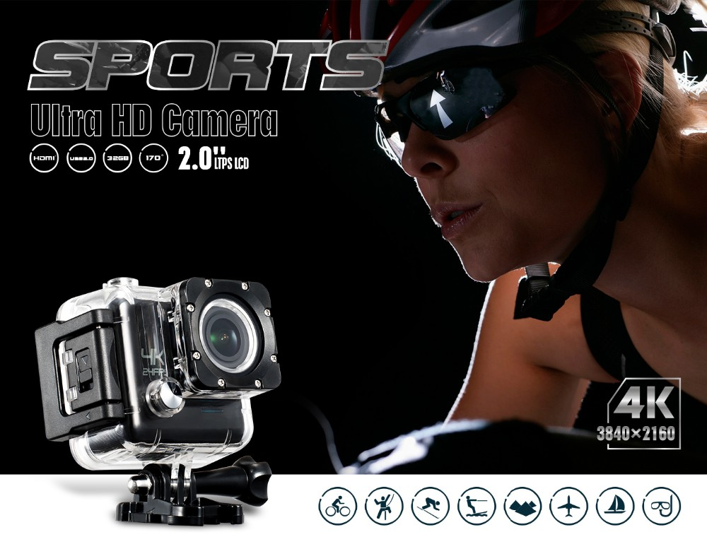 Hot sale newest product UHD 4K sports camera 4k action camera 4k camera M20