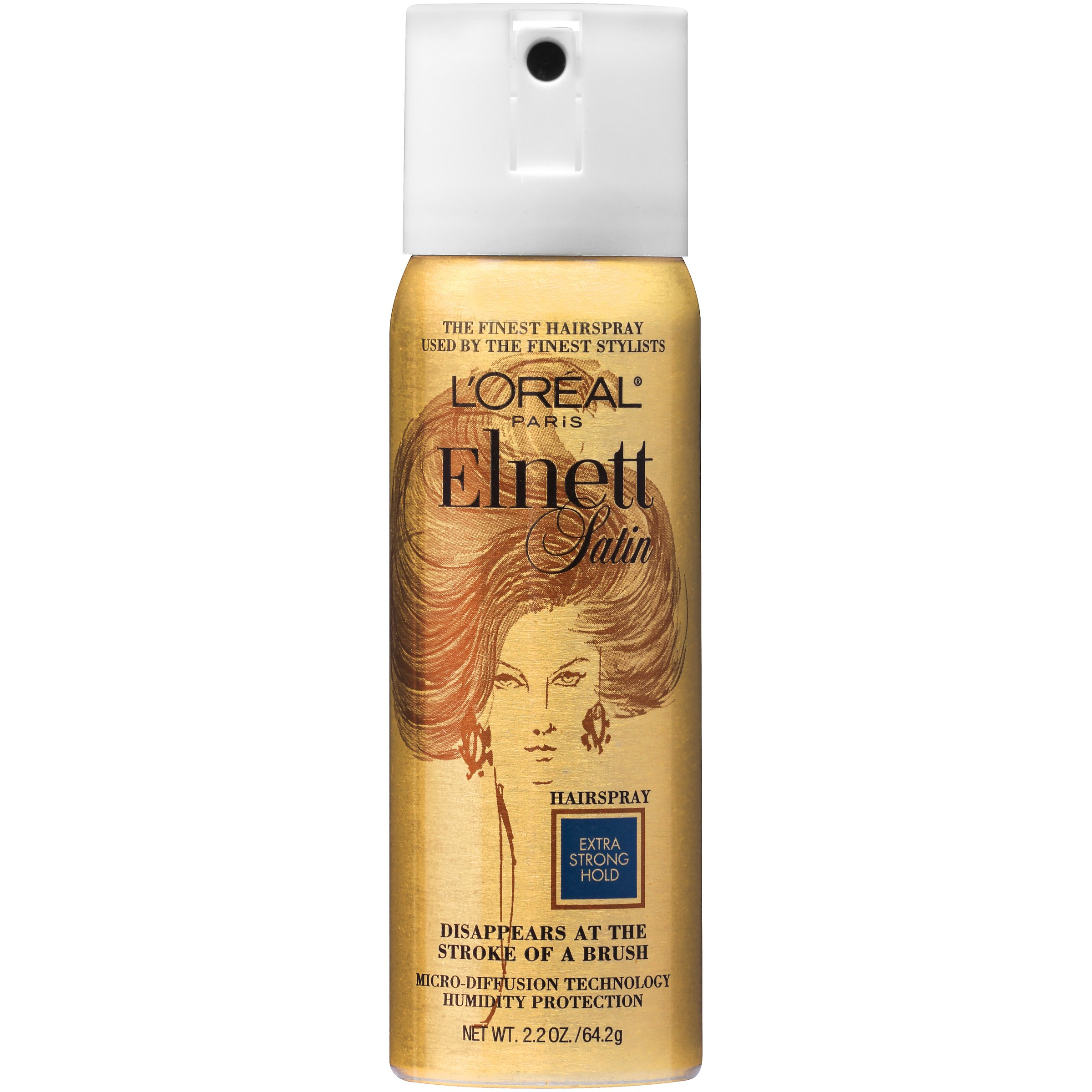 a4bec06ed89 Get Quotations · L'Oreal Paris Elnett Satin Hairspray Extra Strong Hold  (Travel Size), 2.2