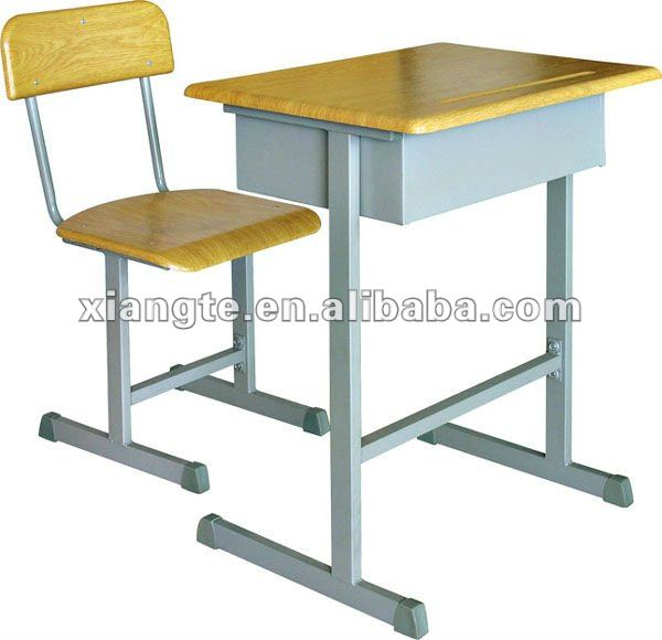 Education muebles sillas de madera con patas de metal, mdf ...
