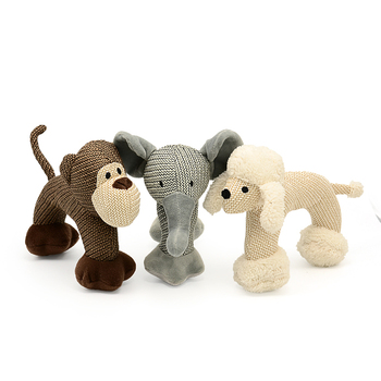 Pet Products Online Designer Elephant Stuffed Pet Plush Dog Squeaky Toy Best Interactive Toy Pets