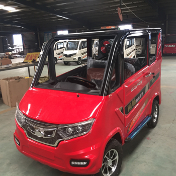 kechang k200 4 wheels 2 doors middle wheel steering 4wd electric vehicle with solar panel