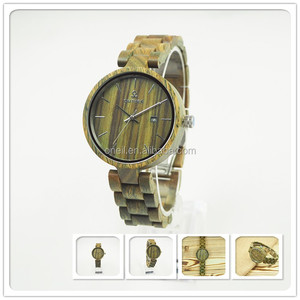 Custom luxury verawood watch with your own logo from quartz watch company