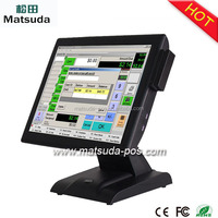 15 inch windows operating touch screen pos system with MSR card reader