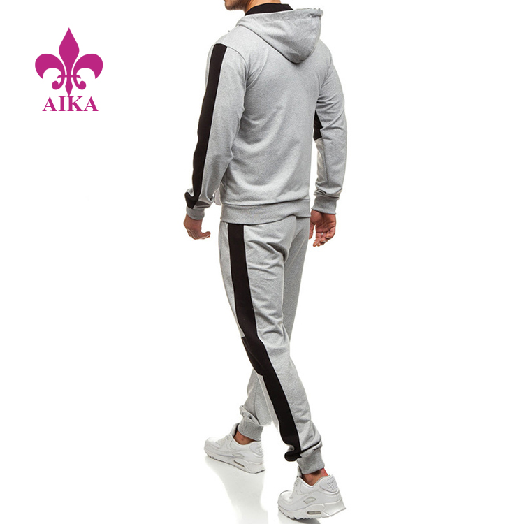 New apparel the most attractive men's casual sports suits in contrasting colors gym suits