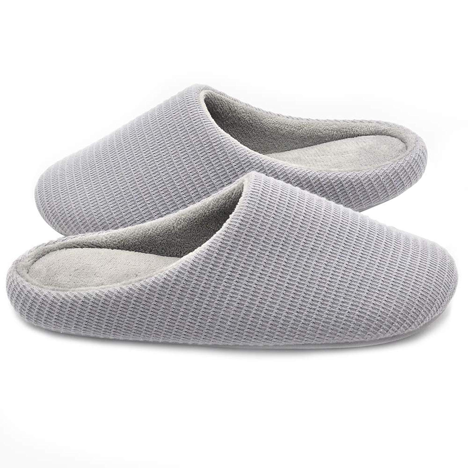 91351e4503f3 Get Quotations · Wishcotton Men s   Women s Memory Foam Slippers Washable  House Shoes ...