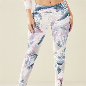 High quality gym wear 87 nylon and 13 spandex leggins womens workout printed leggings activewear hot sale yoga pants