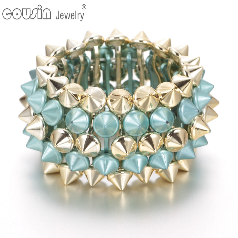 SZ0323 New model Fashion bracelet muti styles bangle&bracelet Women Charm jewerlry rivet bracelet