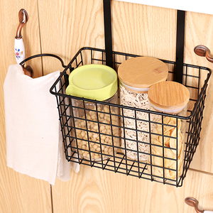 2017 European style kitchen cabinet door back hanging spice holder storage basket