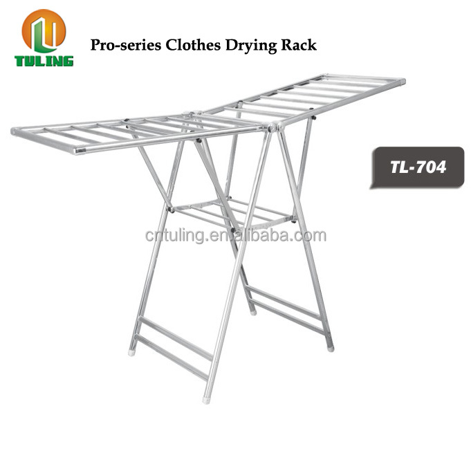 Heavy Duty Gullwing Stainless Steel Folding Clothes Drying Rack Tl