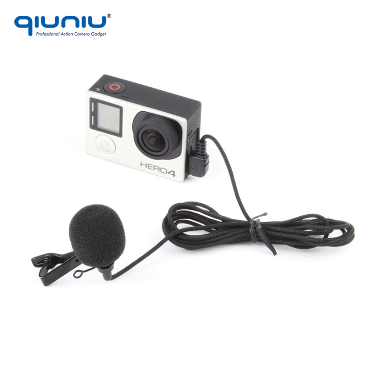 Wholesale Factory Price For Gopro Accessories 200cm long cable external mini microphone for Gopro Hero 4/3+/3