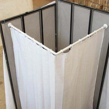 L o u en forma de curva de ba era y ducha cortina buy barra de cortina de ducha barra de - Cortina bano curva ...