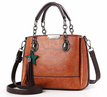 c5f15d447bff 2018 Amazon hot sale PU leather ladies bags handbag with tassel