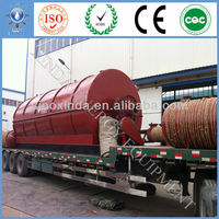 2013 New design and high oil yield!!Waste tyre/rubber/plastic recycling equipment