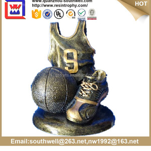 Trophy Figurines , Custom Metal trophies , Baskball Award Trophy
