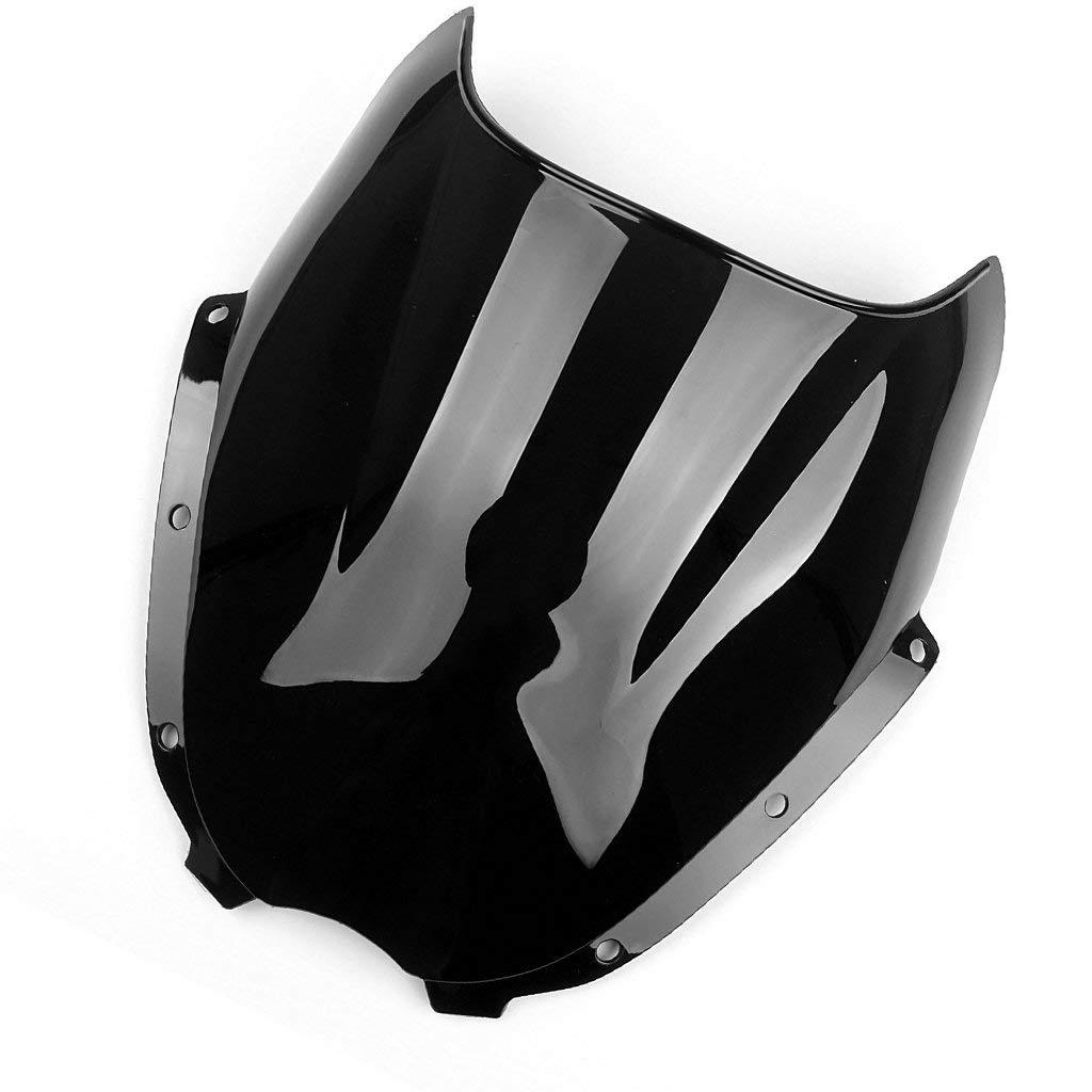 Windshield Windscreen Double Bubble For Hyosung GT125 GT250R GT650R ATK (Black)
