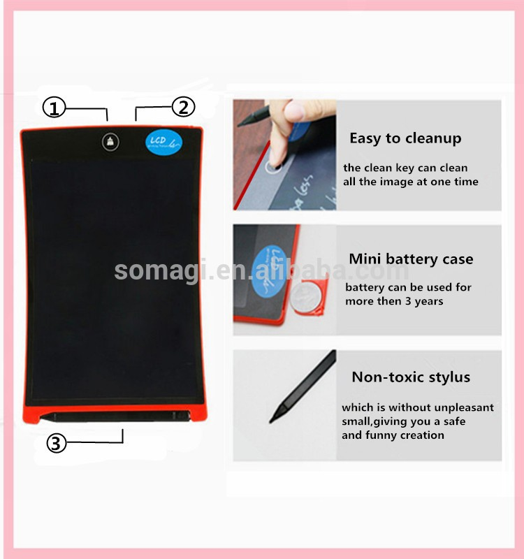 Erasable Ultra Thin Boogie Board Electronic Lcd Writing Tablet ...