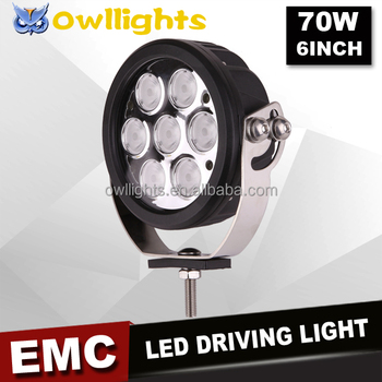 6 inch 70w round led driving fog lamp offroad work light 4wd for 6 inch 70w round led driving fog lamp offroad work light 4wd for jeep wrangler aloadofball Image collections