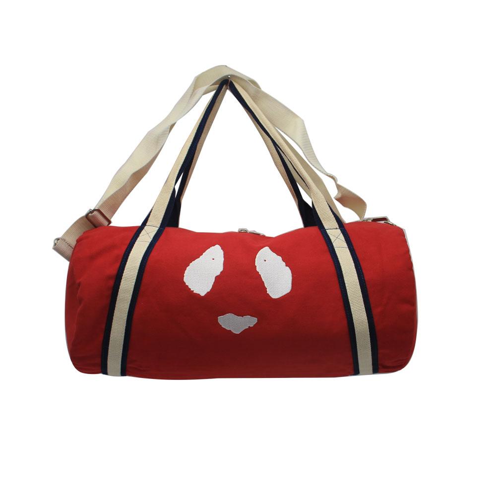 Custom Leisure 21 Red Cute Emoji Style Duffle Bags Women S Handle Sports Canvas