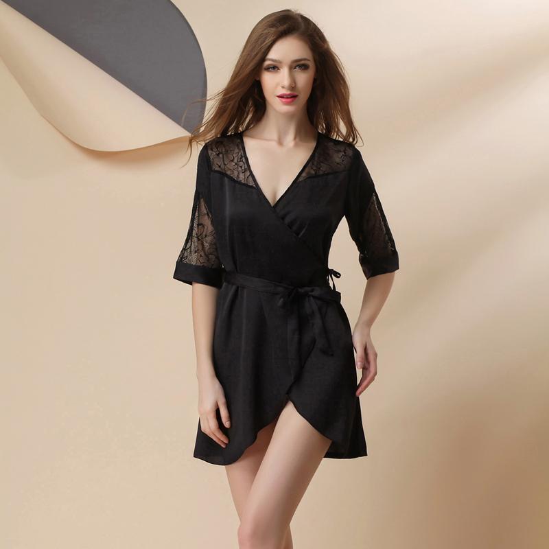 Robe la mode robe de chambre femme soie - Femmes de chambre synonyme ...