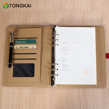 a5 personal organiser notebook planner weekly planner with logo