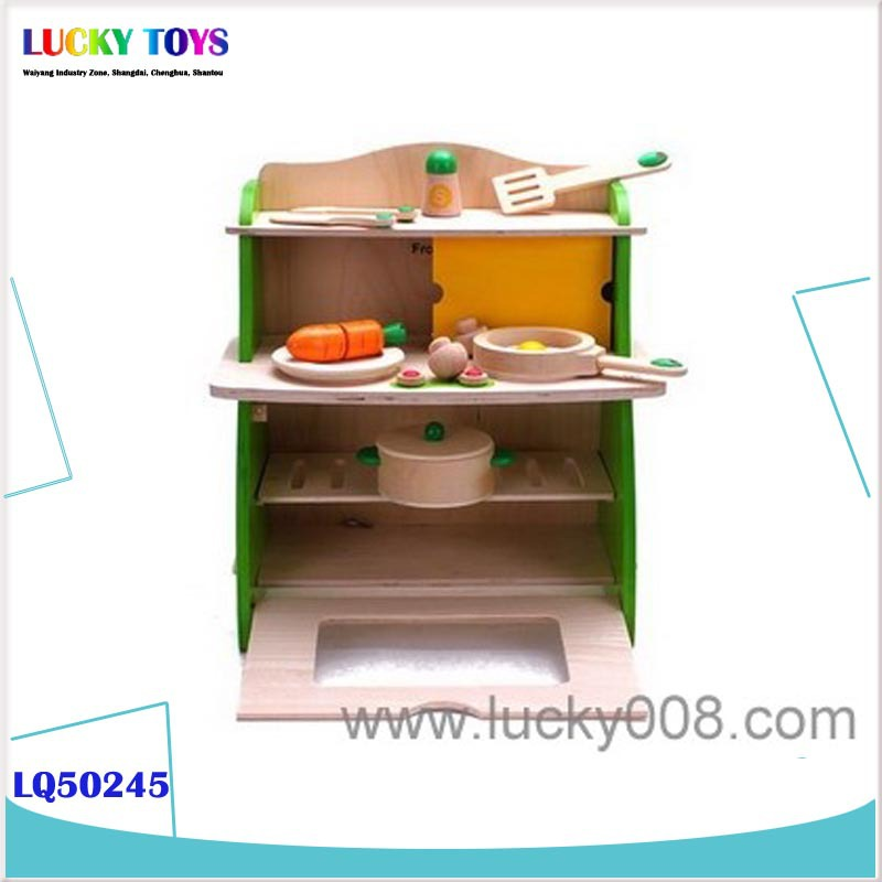2015 New Promotional Wooden Play Kitchen Set Toy For Developing Children  Imagination The Wooden Toys Small