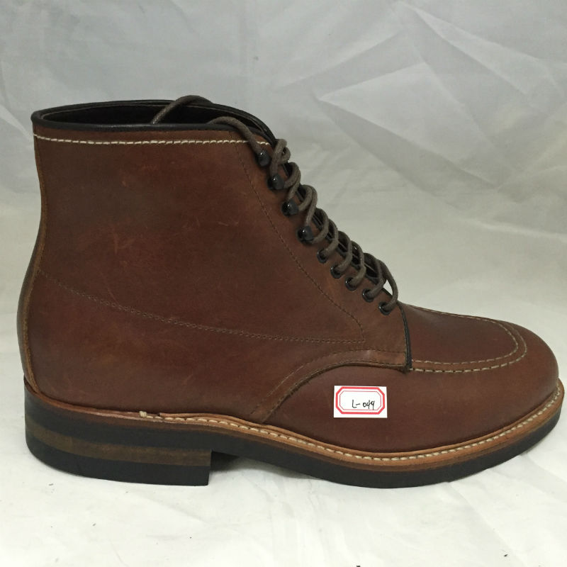 Quality Horse 049 Outsole RL Leather High Boots Luxury Brown Safety Rubber Crazy ISqd1FO1xw