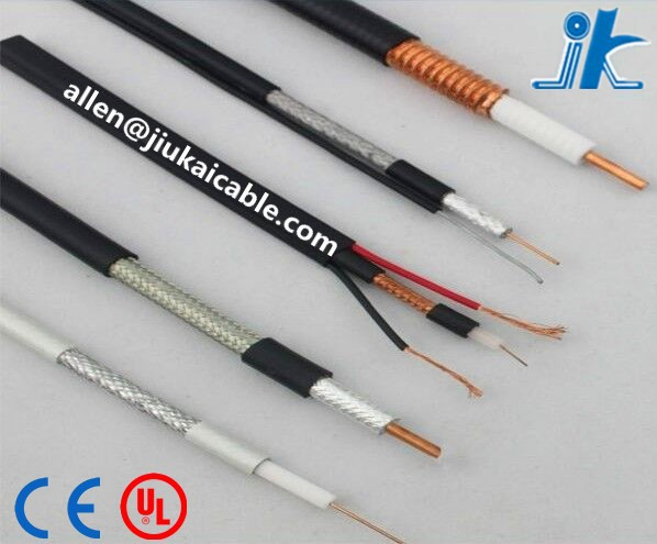 Rf Feeder Rg6 Coaxial Cable For Cctv Camera Cable 1/4\