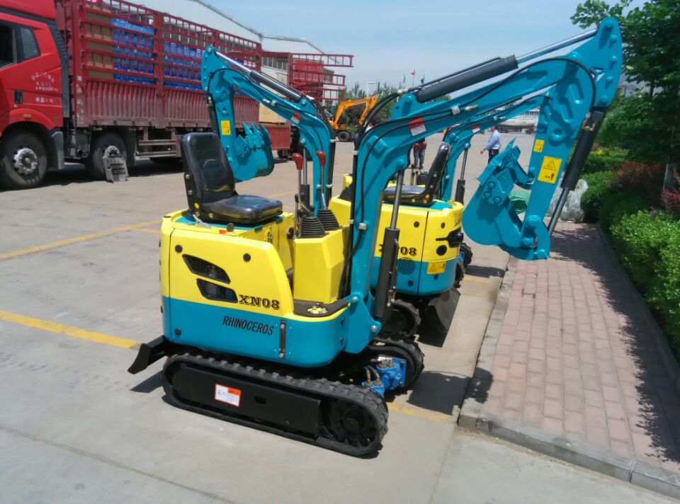 china mini digger xn08 with auger hydraulic small excavator