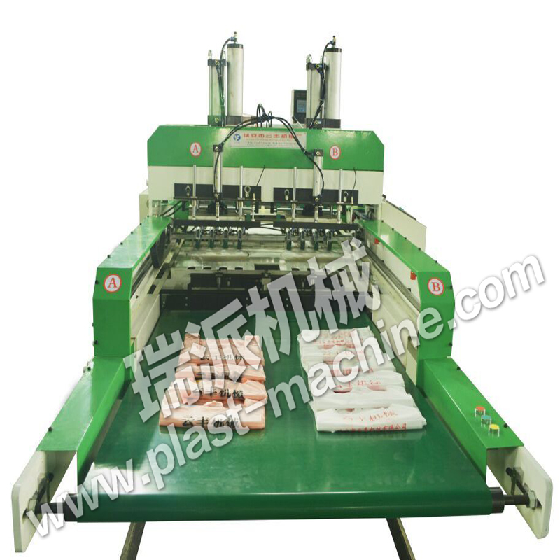 High speed computer control full automatic t-shirt poly bag sealing machine