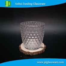 Transparent Glass Dotted Candle Holder Home Dinner Decor Gift